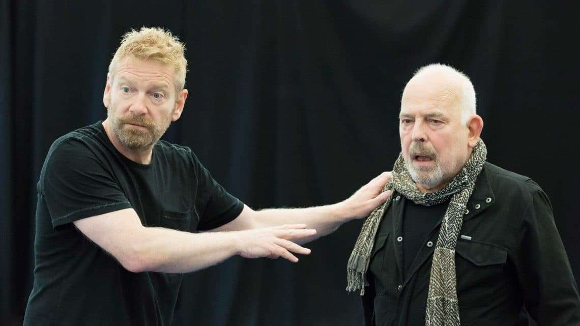Kenneth Branagh and John Shrapnel in rehearsals for Harlequinade. Credit Johan Persson