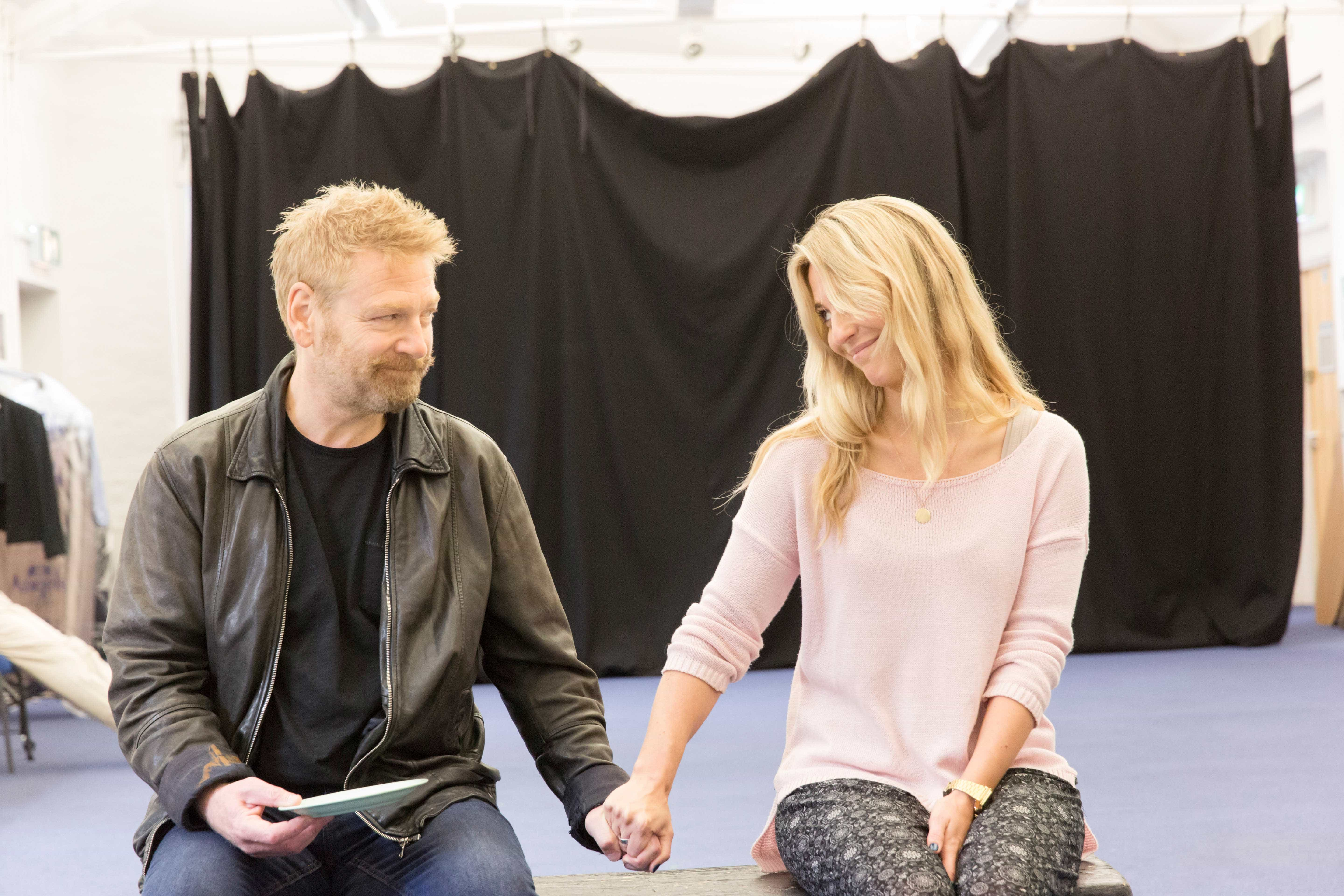 Kenneth Branagh and Miranda Raison in rehearsals for Harlequinade. Credit Johan Persson | Rehearsal images of Kenneth Branagh's Harlequinade