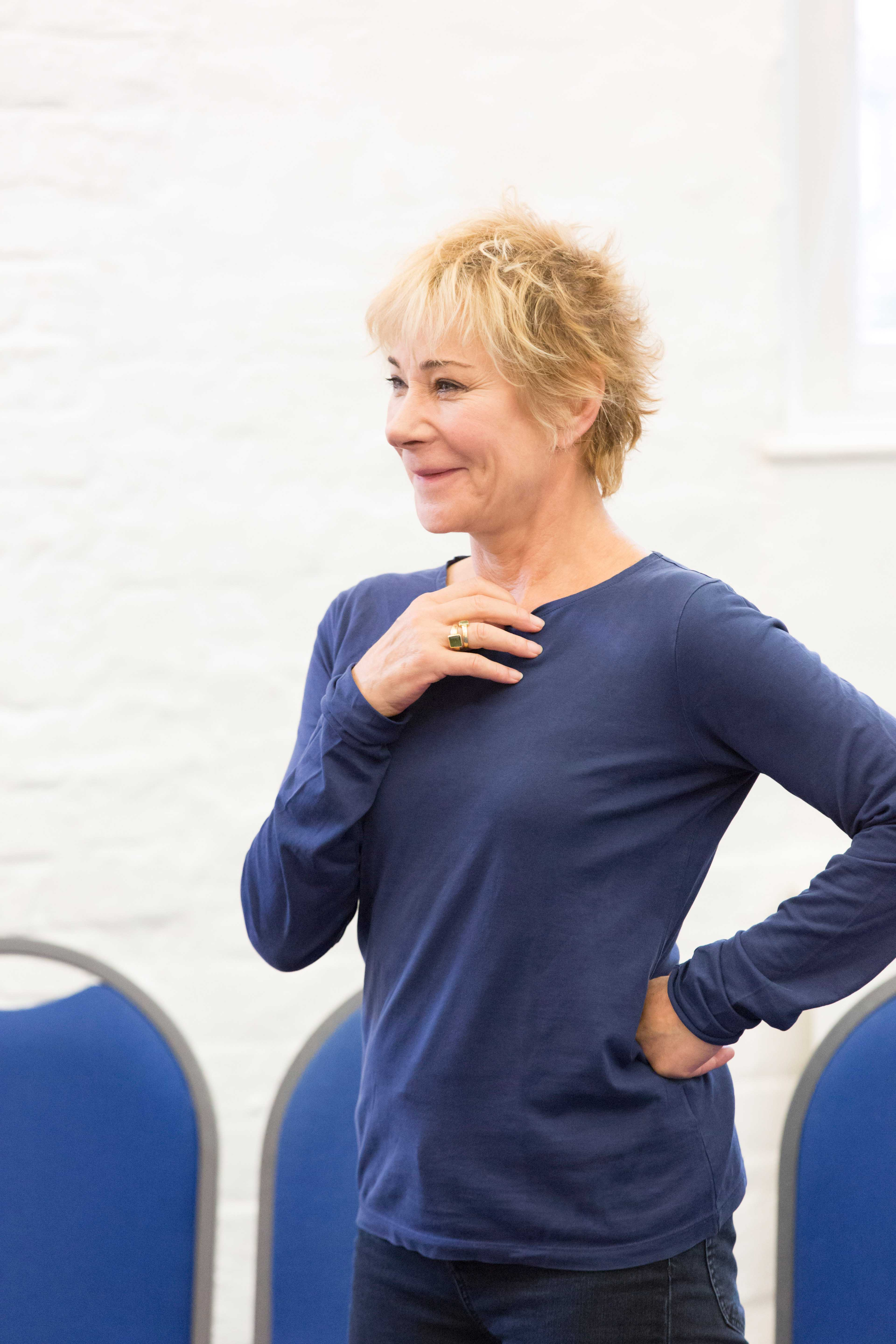 Zoe Wanamaker in rehearsals for Harlequinade. Credit Johan Persson | Rehearsal images of Kenneth Branagh's Harlequinade