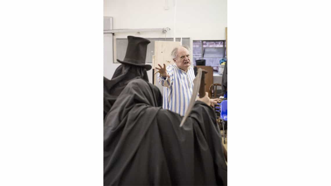 A Christmas Carol rehearsal | Jim Broadbent | Photo: Marc Brenner | First Look: Jim Broadbent in rehearsal for A Christmas Carol