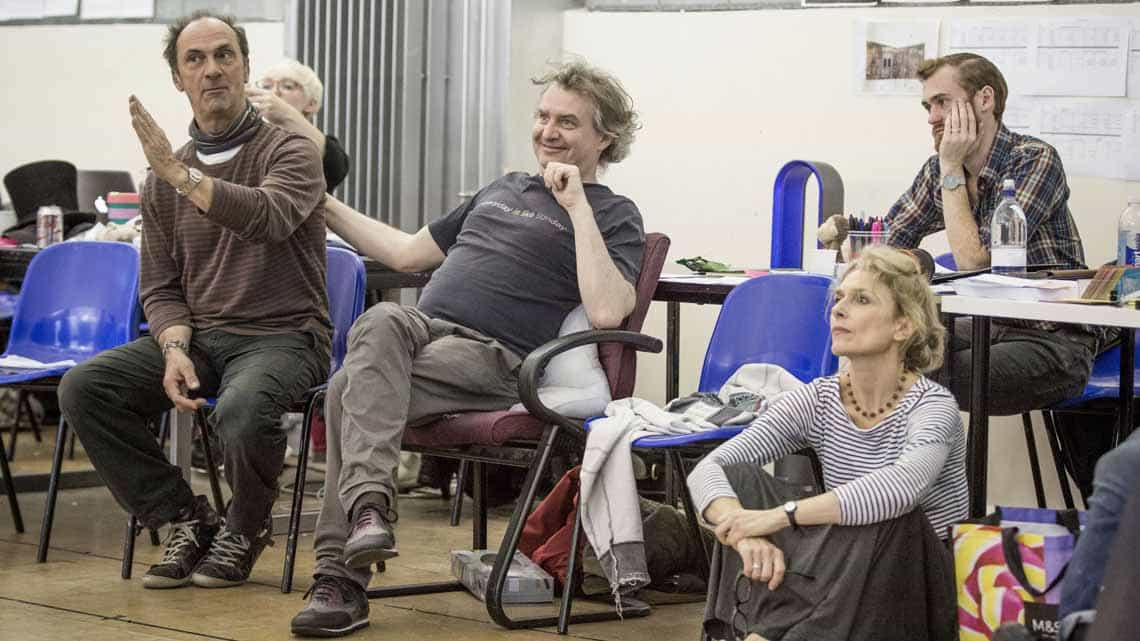 A Christmas Carol rehearsal | Photo: Marc Brenner | First Look: Jim Broadbent in rehearsal for A Christmas Carol