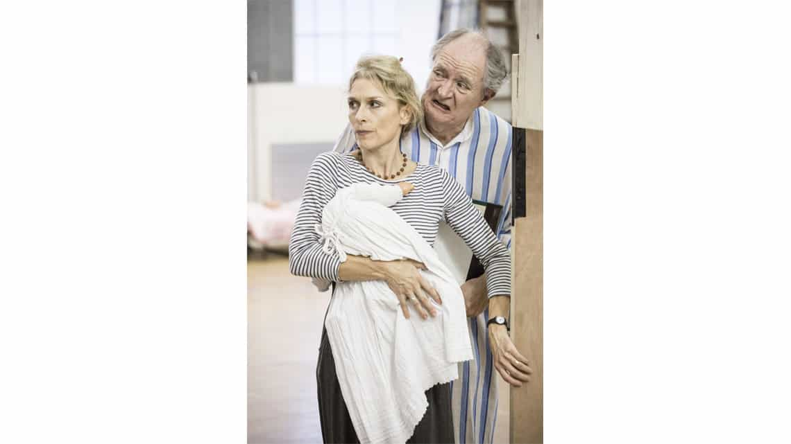A Christmas Carol rehearsal | Jim Broadbent and Amelia Bullmore | Photo: Marc Brenner | First Look: Jim Broadbent in rehearsal for A Christmas Carol
