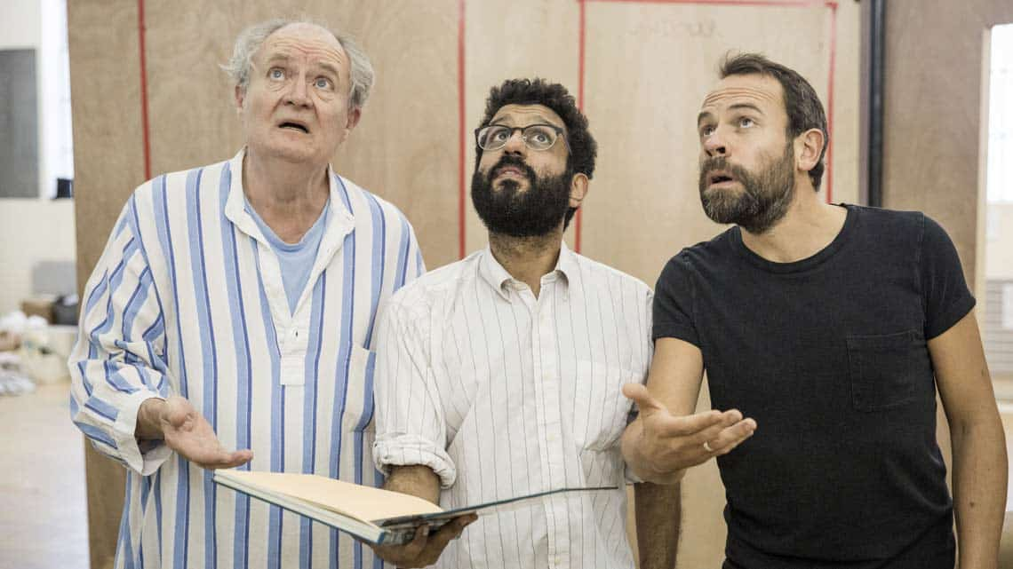 A Christmas Carol rehearsal | Jim Broadbent Adeel Akhtar and Keir Charles | Photo: Marc Brenner | First Look: Jim Broadbent in rehearsal for A Christmas Carol