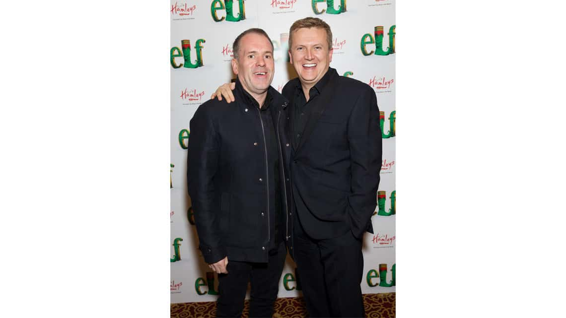LtoR Chris Moyles and Aled Jones | Gala Night for Elf | Photo: Piers Allardyce | Photos: Stars come out for Elf Gala Night