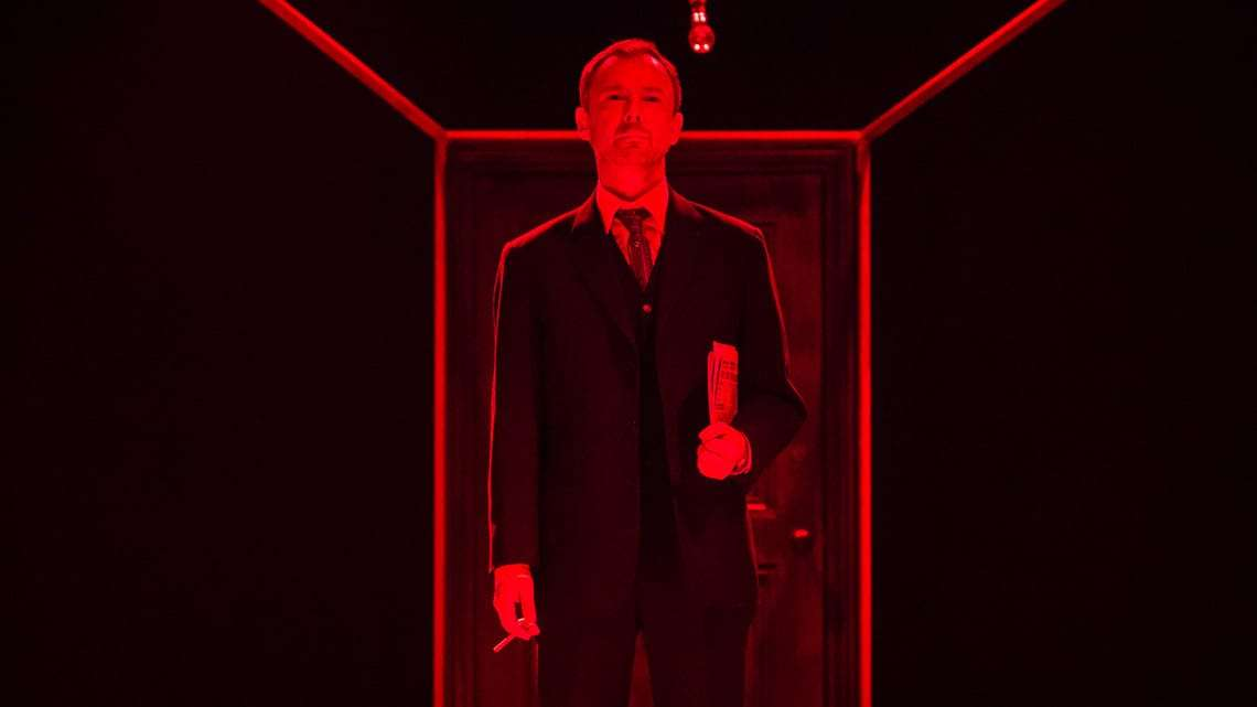 John Simm in The Homecoming |Photo: Marc Brenner | First Look: Jamie Lloyd's The Homecoming