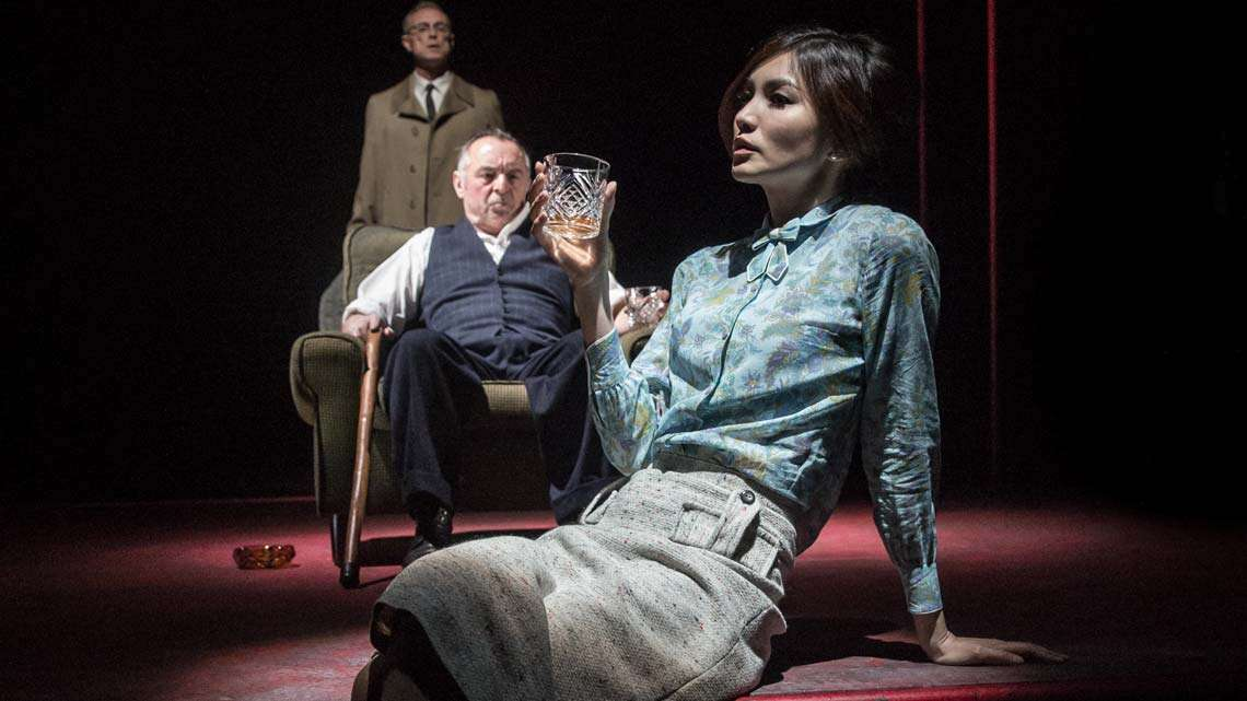 Gemma Chan, Ron Cook, Gary Kemp in The Homecoming |Photo: Marc Brenner | First Look: Jamie Lloyd's The Homecoming