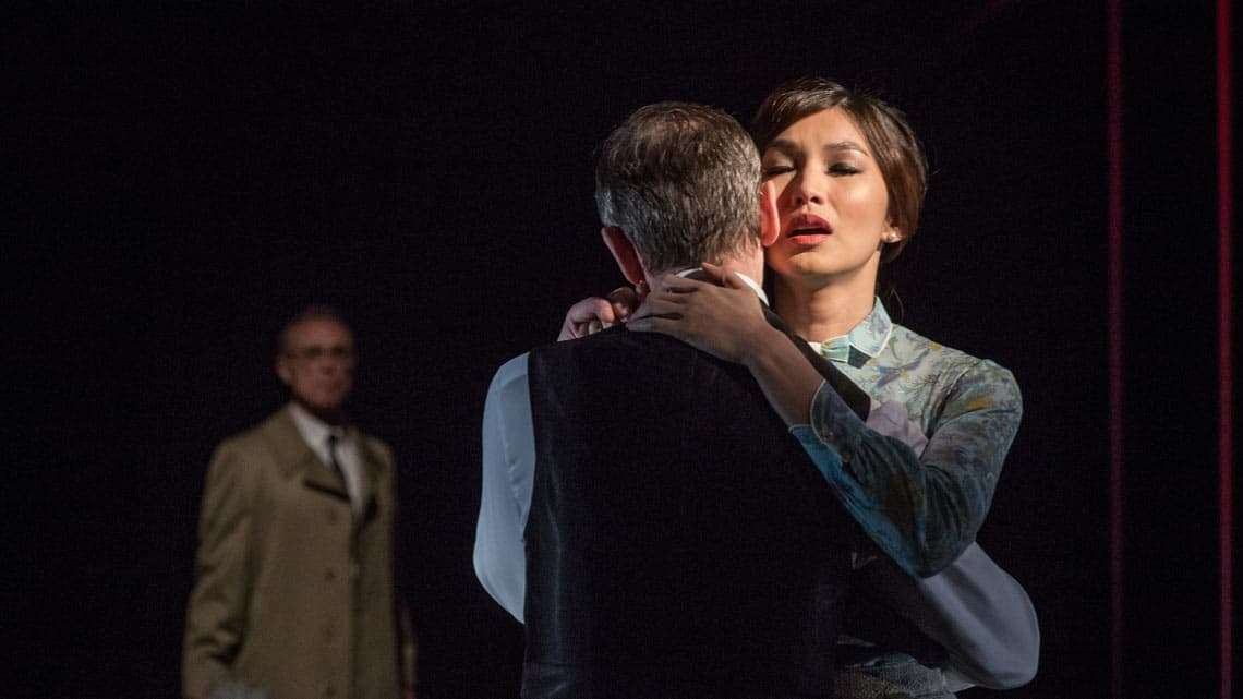Gemma Chan in The Homecoming |Photo: Marc Brenner | The Homecoming at the Trafalgar Studios