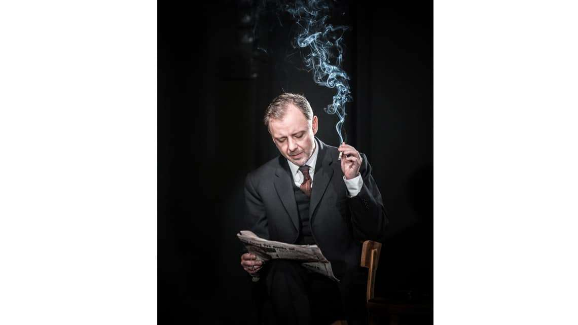 John Simm in The Homecoming  Photo: Marc Brenner   First Look: Jamie Lloyd's The Homecoming