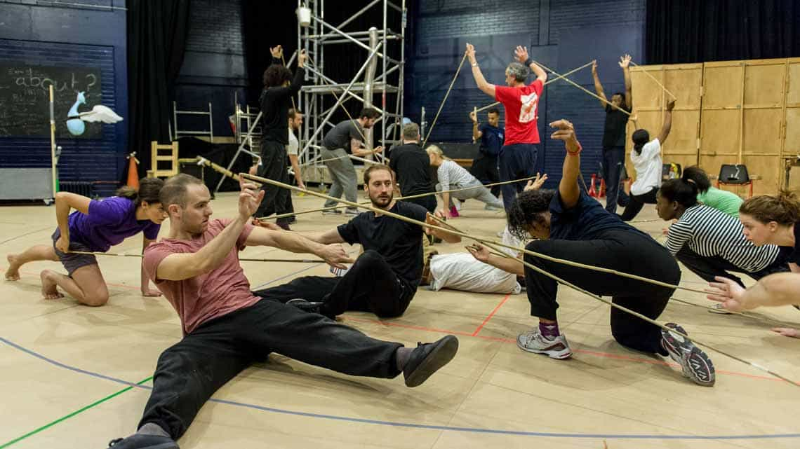 Ensemble. The Lorax at The Old Vic. Photo:  Manuel Harlan | Photos: The Lorax in rehearsal