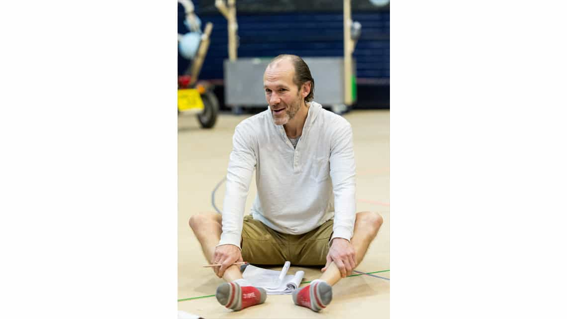 Simon Paisley Day (Once-Ler) in The Lorax at The Old Vic. Photo: Manuel Harlan. | Photos: The Lorax in rehearsal