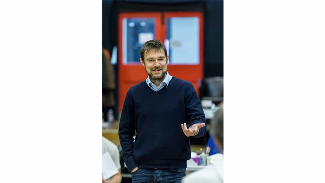 David Greig (Writer). The Lorax at The Old Vic. Photo: Manuel Harlan. | Photos: The Lorax in rehearsal
