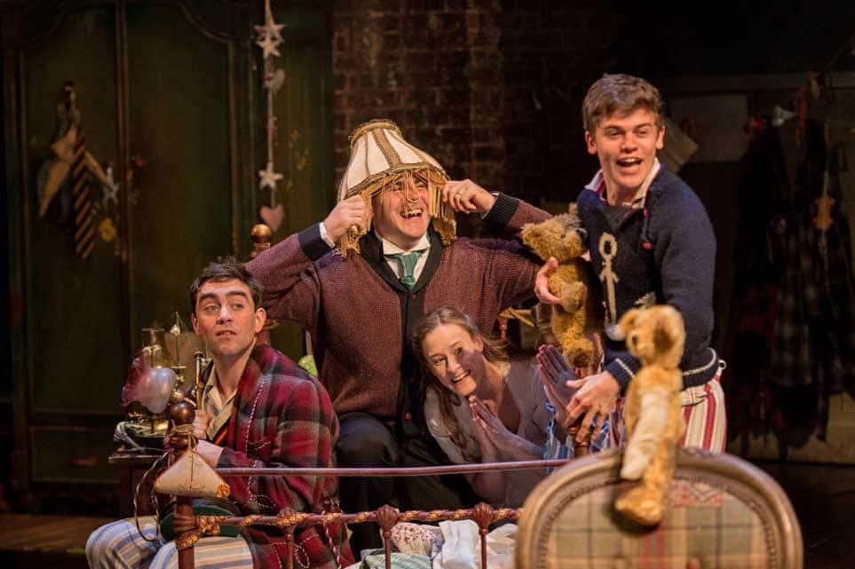 es Corrigan, Patrick Toomey, Mariah Gale, Sam Clemmett   Photo: Manuel Harlan   First look at Jonathan Munby's Wendy and Peter Pan at the RSC
