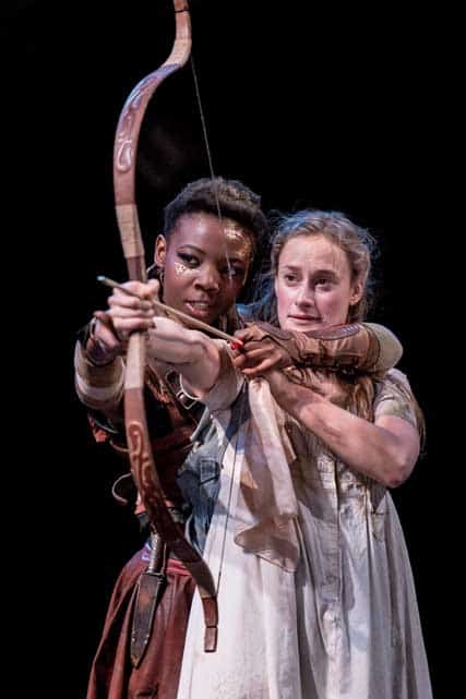 Mimi Ndiweni (Tiger Lily), Mariah Gale (Wendy) | Photo: Manuel Harlan | First look at Jonathan Munby's Wendy and Peter Pan at the RSC