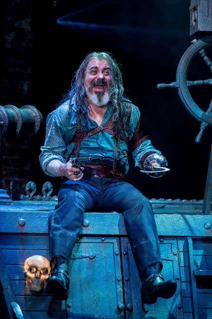 Darrell D'Silva (Hook) | Photo: Manuel Harlan | First look at Jonathan Munby's Wendy and Peter Pan at the RSC
