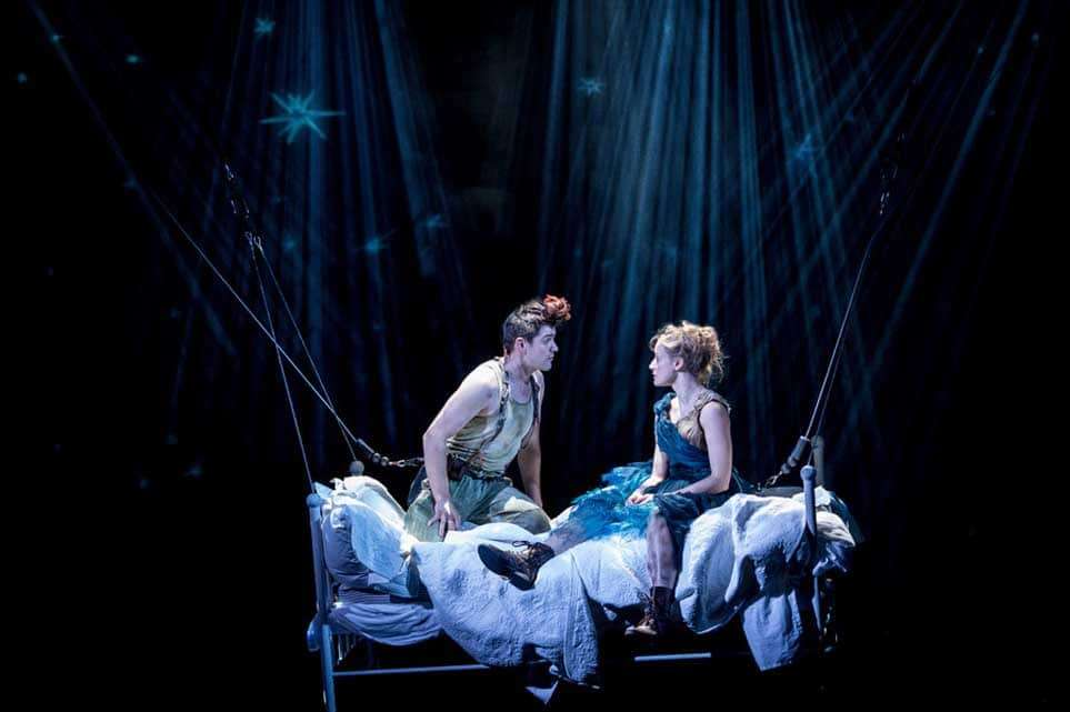 Rhys Rusbatch (Peter) and Mariah Gale (Wendy) | Photo: Manuel Harlan | First look at Jonathan Munby's Wendy and Peter Pan at the RSC