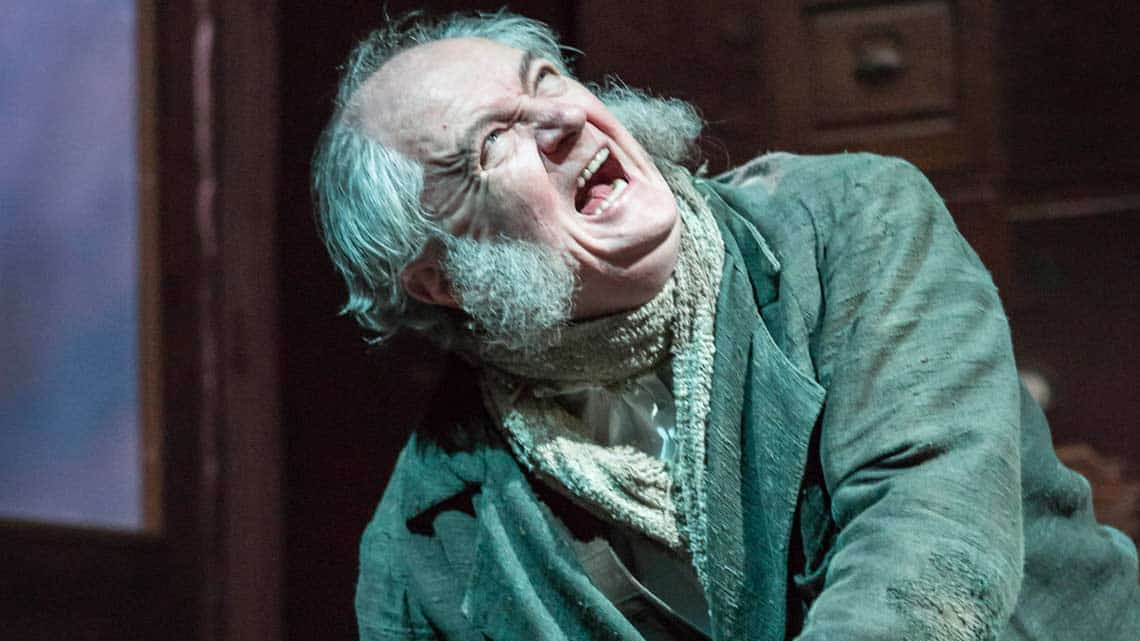 Jim Broadbent in A Christmas Carol. Photo: Johan Persson | First Look: Jim Broadbent in A Christmas Carol
