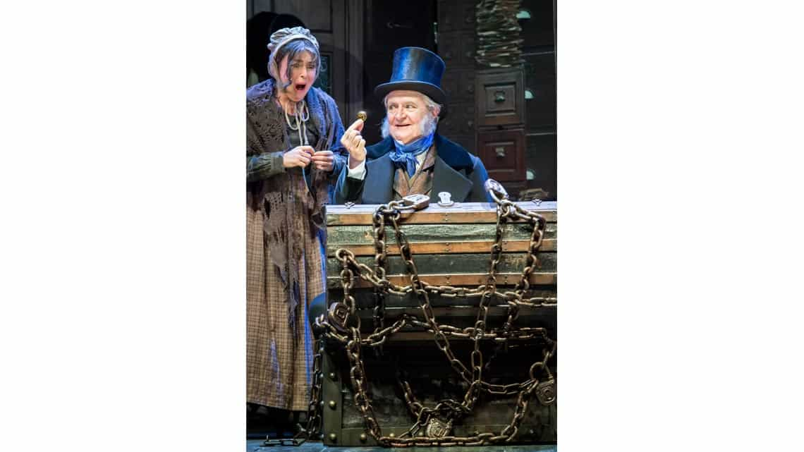 Jim Broadbent and Samantha Spiro in A Christmas Carol. Photo: Johan Persson | First Look: Jim Broadbent in A Christmas Carol