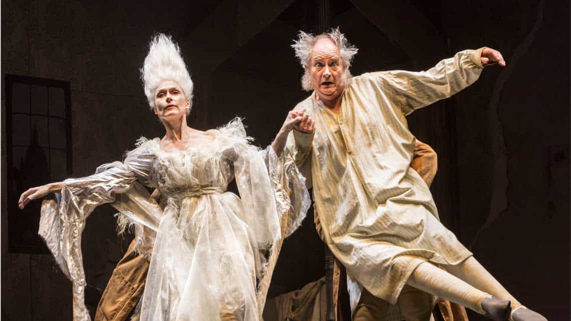 Jim Broadbent and Amelia Bullmore  in A Christmas Carol. Photo: Johan Persson | First Look: Jim Broadbent in A Christmas Carol