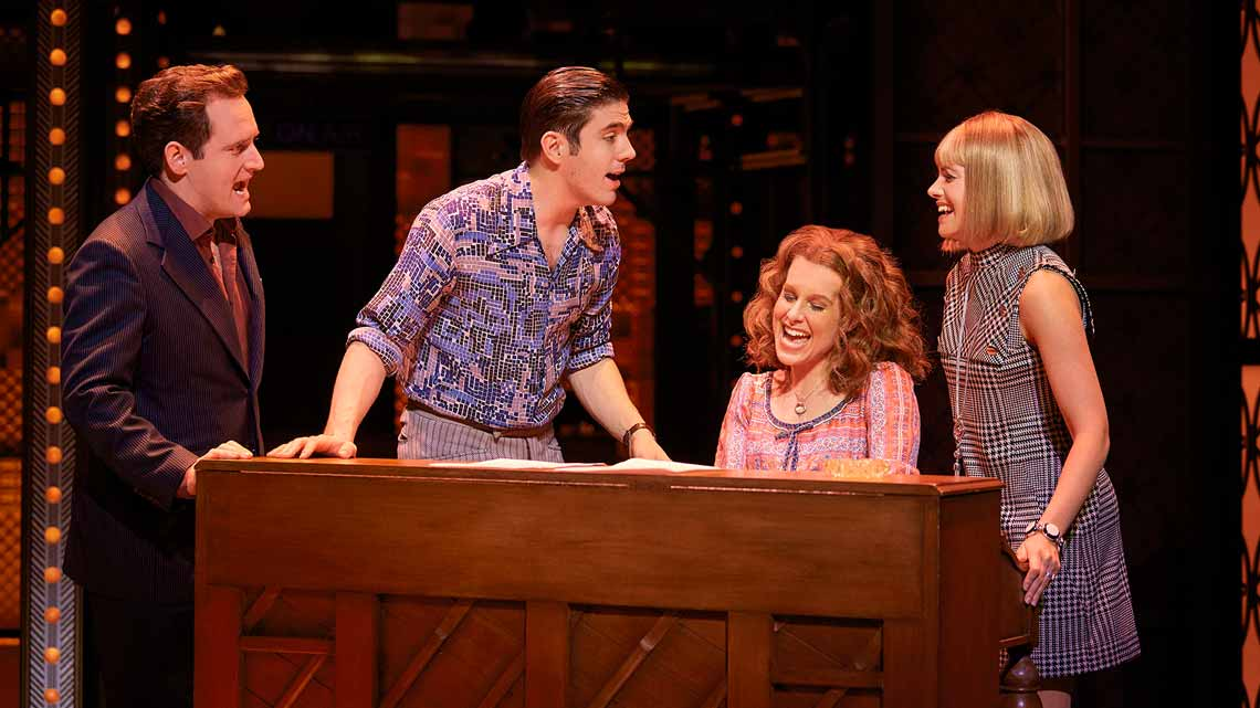 Cassidy Janson (Carole King) and Diane Keen (Genie Klein) in Beautiful The Carole King Musical. Photo Credit Brinkhoff Moegenburg. | BEAUTIFUL The Carole King Musical at the Aldwych Theatre