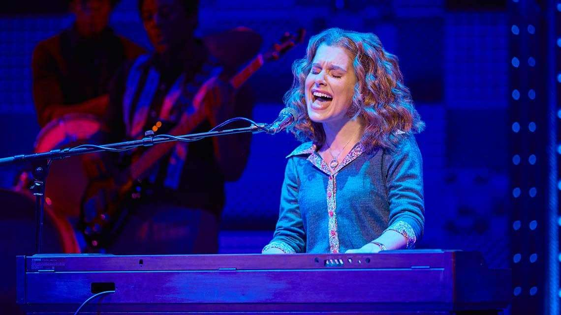 Cassidy Janson (Carole King) in Beautiful The Carole King Musical. Photo Credit Brinkhoff Moegenburg.