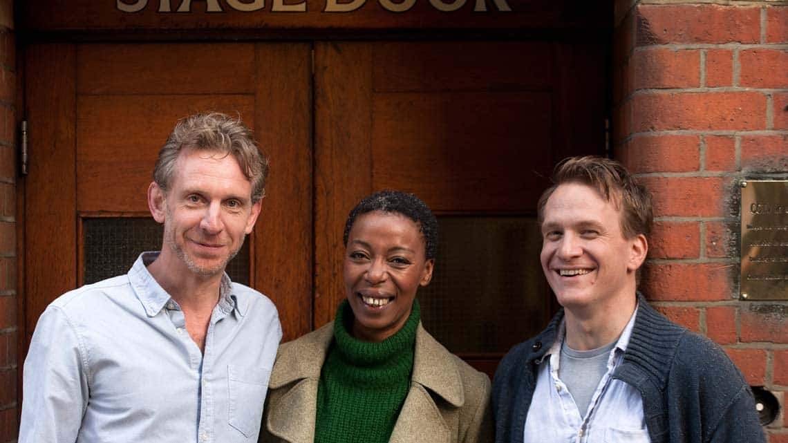 Paul Thornley (Ron), Noma Dumezweni (Hermione) and Jamie Parker (Harry) at the Palace Theatre. Photo: Simon Annand   Jamie Parker cast as Harry Potter in the Cursed Child