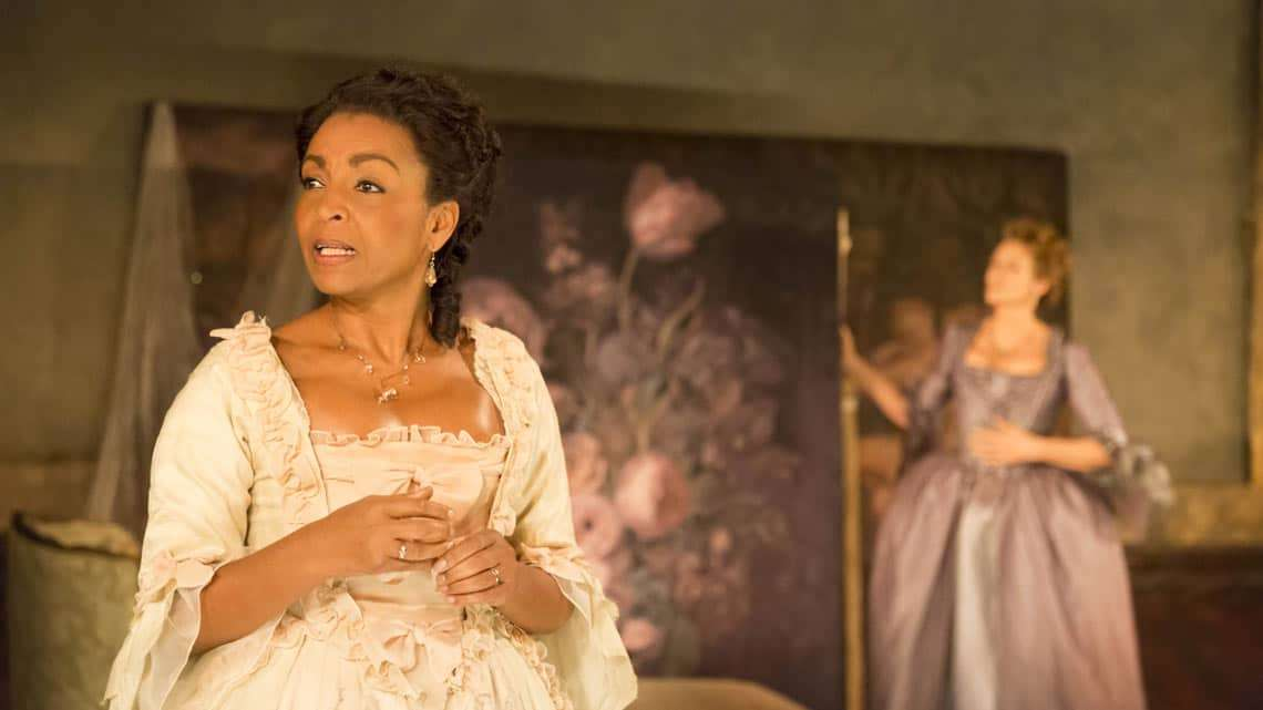 Adjoa Andoh in Les Liaisons Dangereuses at the Donmar Warehouse. © Johan Persson | Reviews round-up: Les Liaisons Dangereuses' at the Donmar Warehouse