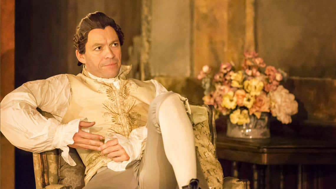 Dominic West  in Les Liaisons Dangereuses at the Donmar Warehouse. © Johan Persson