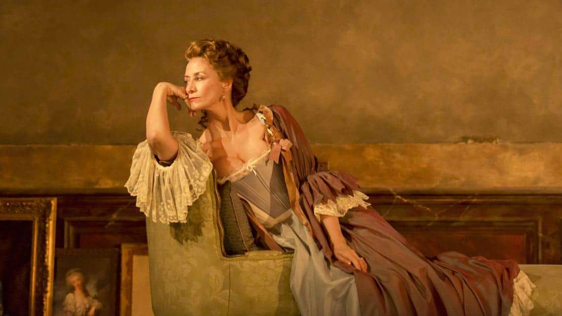 Janet McTeer in Les Liaisons Dangereuses at the Donmar Warehouse. © Johan Persson | Reviews round-up: Les Liaisons Dangereuses' at the Donmar Warehouse