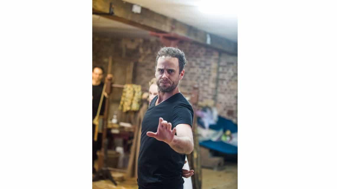 Jay Taylor (Charles Hart) in Nell Gwynn. Photo: Tristram Kenton. | First Look: Gemma Arterton in Nell Gwynn rehearsals