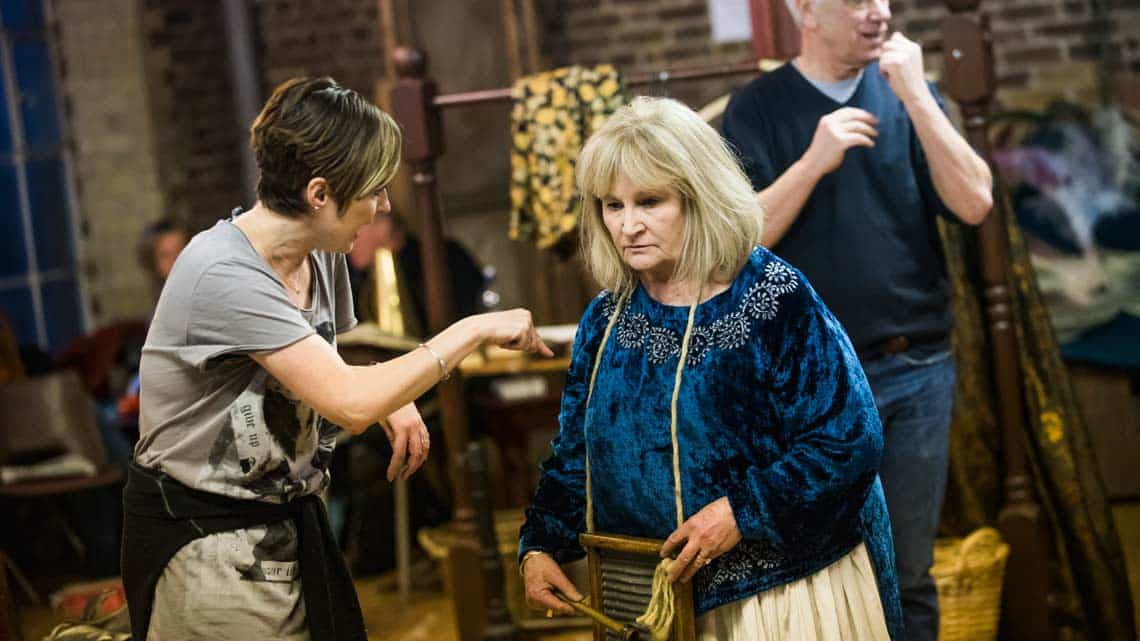 Michele Dotrice (Nancy) in Nell Gwynn. Photo: Tristram Kenton. | First Look: Gemma Arterton in Nell Gwynn rehearsals