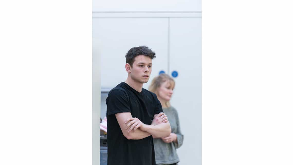 Sean Delaney (Jason) in Rabbit Hole at Hampstead Theatre. Photo: Manuel Harlan