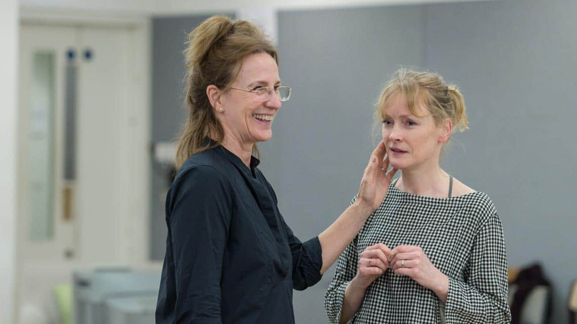 Penny Downie and Claire Skinner in Rabbit Hole at Hampstead Theatre. Photo: Manuel Harlan