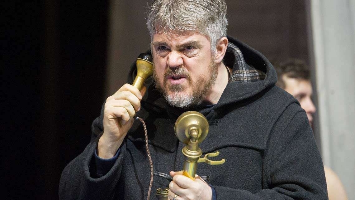 Phill Jupitus in rehearsals for Chitty Chitty Bang Bang. Credit Alastair Muir | Rehearsal photos of Chitty Chitty Bang Bang