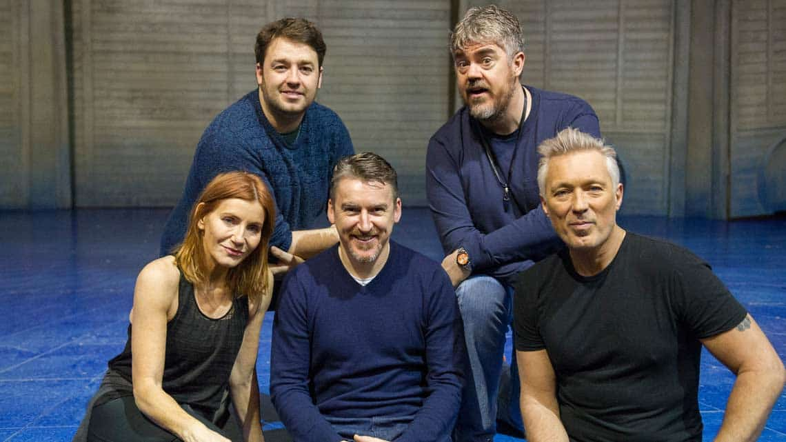 Michelle Collins, Jason Manford, Director James Brining, Phill Jupitus, Martin Kemp.(Alastair Muir) | Rehearsal photos of Chitty Chitty Bang Bang