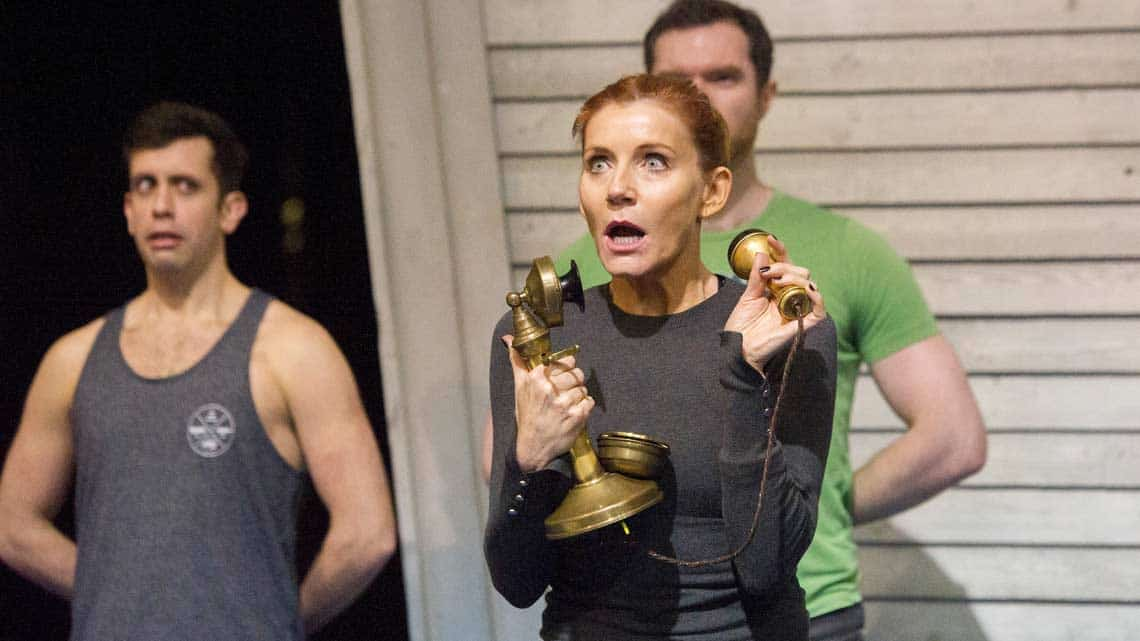 Michelle Collins in rehearsals for Chitty Chitty Bang Bang. Credit Alastair Muir | Rehearsal photos of Chitty Chitty Bang Bang