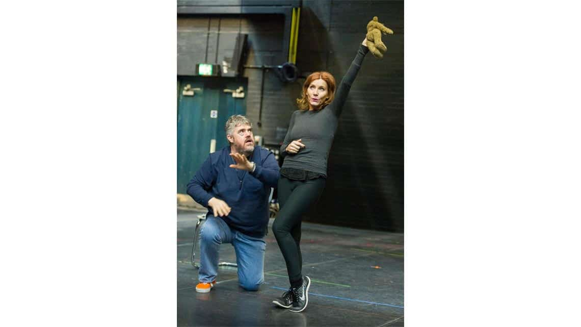 Phill Jupitus and Michelle Collins rehearse Chitty Chitty Bang Bang. Credit Alastair Muir (3) | Rehearsal photos of Chitty Chitty Bang Bang