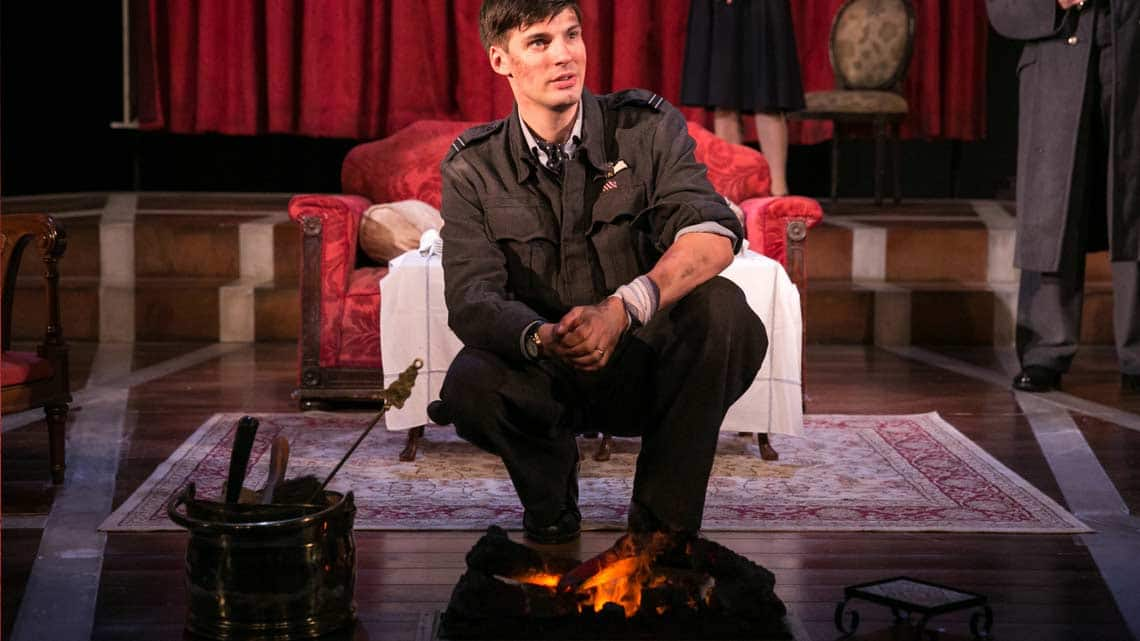 Daniel Fraser as Teddy Graham in the 2016 National tour of Flare Path. Photo: Jack Ladenburg | First look at the 2016 National Tour of Flare Path.