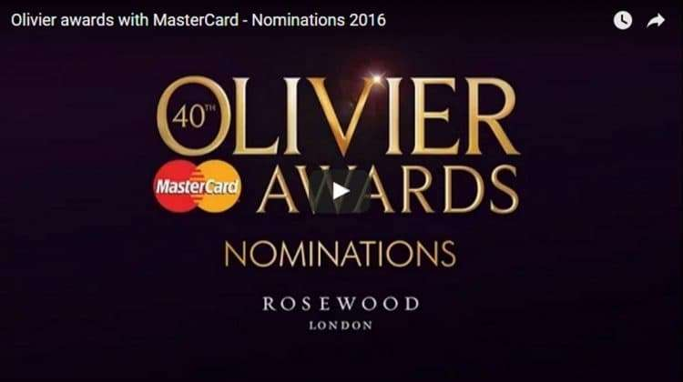 Olivier Awards Nominations 2016