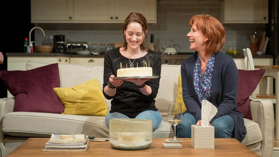 Georgina Rich (Izzy) and Penny Downie (Nat) in Rabbit Hole at Hampstead Theatre. Photos: Manuel Harlan | Rabbit Hole at Hampstead Theatre