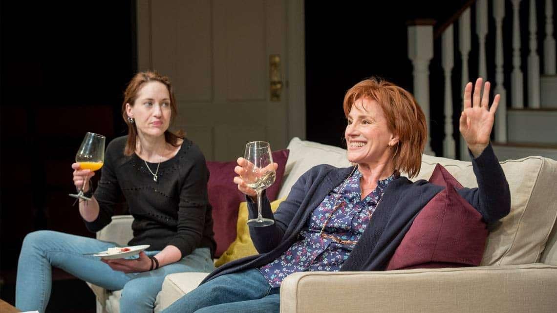 Georgina Rich (Izzy) and Penny Downie (Nat) in Rabbit Hole at Hampstead Theatre. Photos: Manuel Harlan | Production photos of the UK premiere of Rabbit Hole