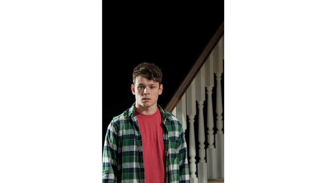 Sean Delaney (Jason) in Rabbit Hole at Hampstead Theatre. Photos: Manuel Harlan   Production photos of the UK premiere of Rabbit Hole