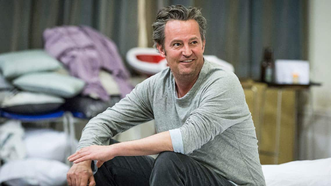Matthew Perry in rehearsal for The End of Longing
