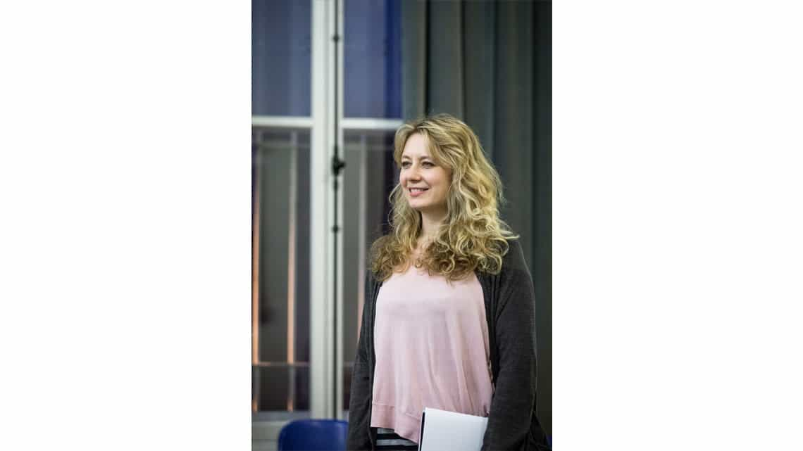 Jennifer Mudge in rehearsal for The End of Longing