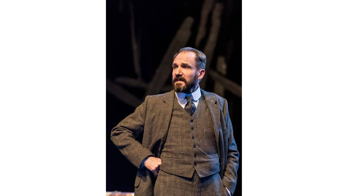Ralph Fiennes (Halvard Solness) in The Master Builder at The Old Vic. Photo: Manuel Harlan | First Look: Ralph Fiennes in The Master Builder