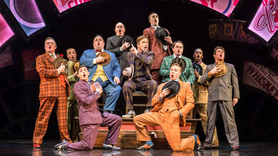 Guys and Dolls UK Tour | Photo  Johan Persson | First Look: Richard Fleeshman as Sky Masterson in Guys and Dolls