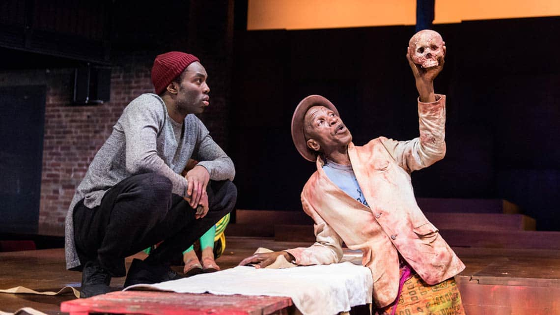 Paapa Essiedu & Ewart James Walters |Hamlet | RSC | 2016 | Photo: Manuel Harlan | Paapa Essiedu stars as Hamlet at the Royal Shakespeare Company
