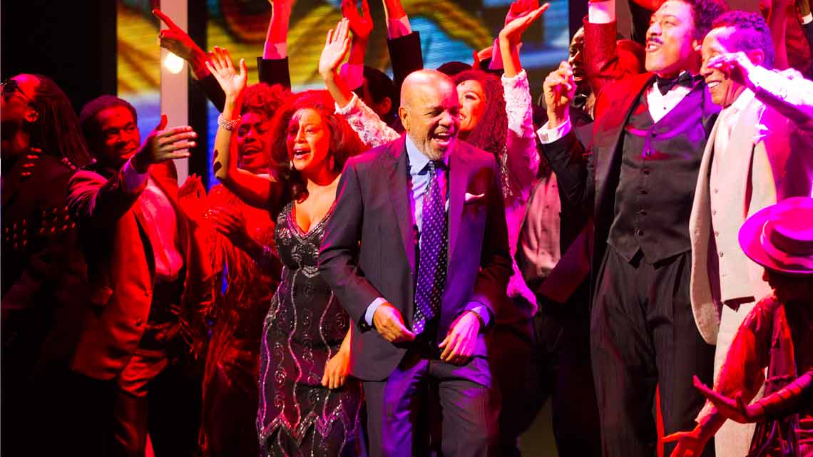 Berry Gordy and cast of Motown The Musical. Photo credit: Dan Wooller | Smokey Robinson & Mary Wilson among guests at Motown first night