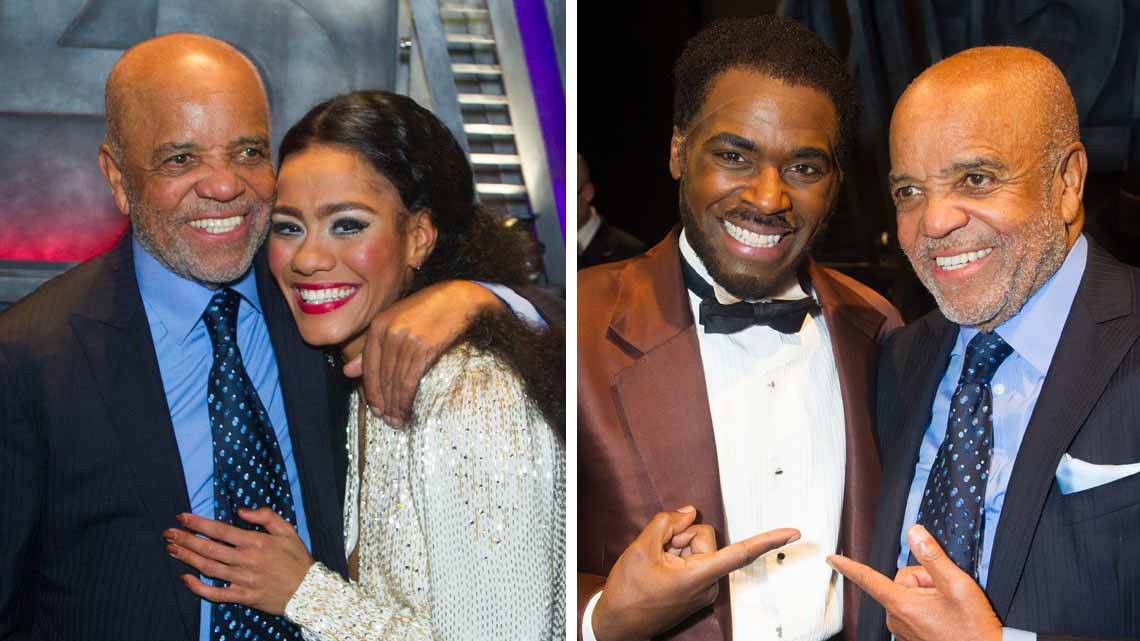 Berry Gordy, Lucy St. Louis and Cedric Neal at Motown The Musical. Photo credit: Dan Wooller | Smokey Robinson & Mary Wilson among guests at Motown first night