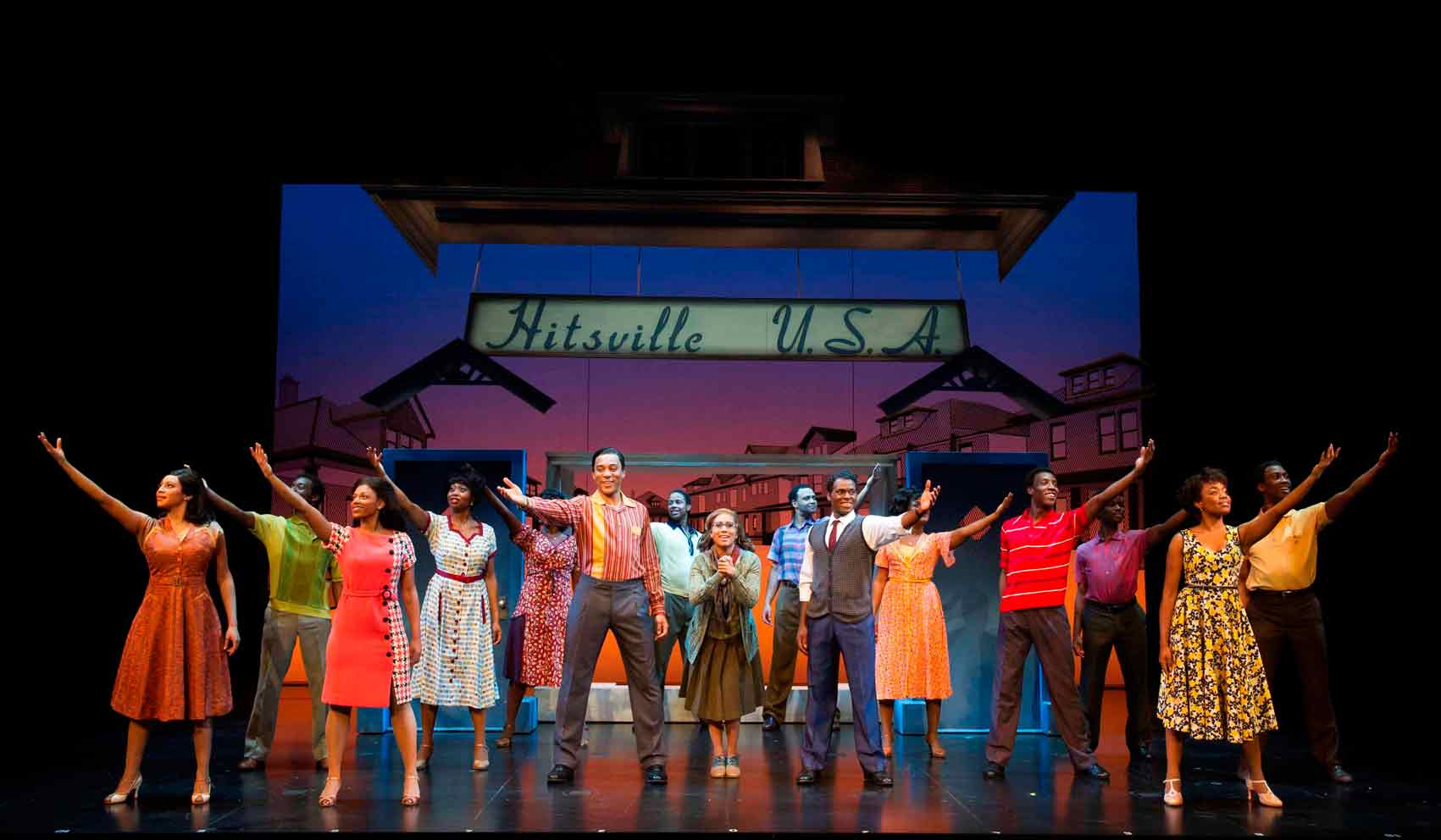 Cast of Motown the Musical. Photo: Alastair Muir | First Look: Motown the Musical