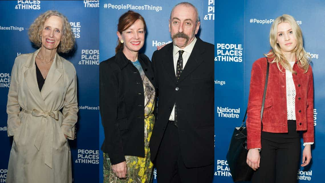 Barbara Marten, Bunny Christie, Kevin McMonagle & Laura Woodwardat People, Places & Things | Wyndham's Theatre | Photo: Craig Sugden | Harvey Keitel attends opening night of People, Places & Things